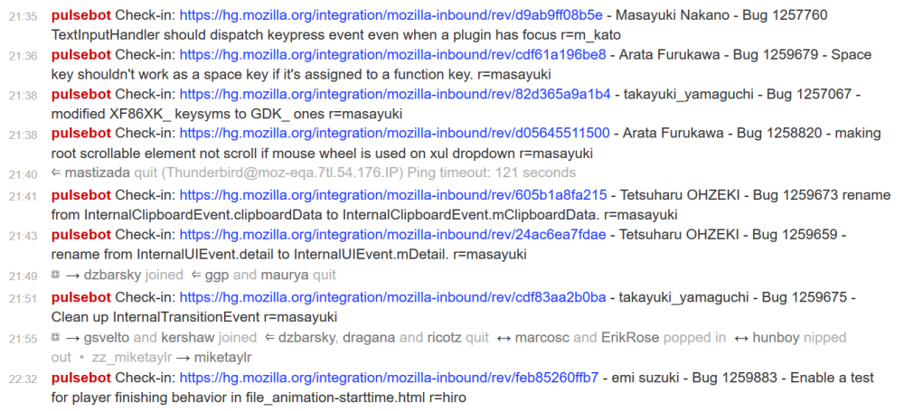 lots of Japanese commits